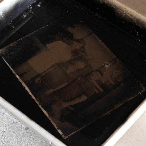 写真ワークショップ<br>湿板写真を体験