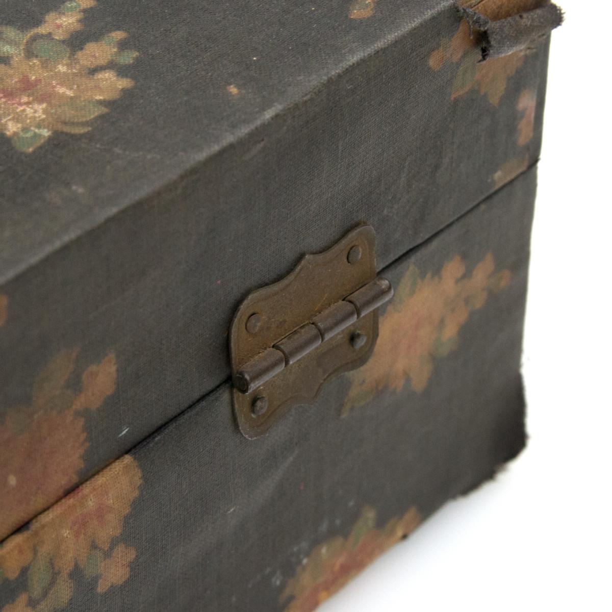 ヴィンテージ フローラル ボックス 裁縫箱 フラワー