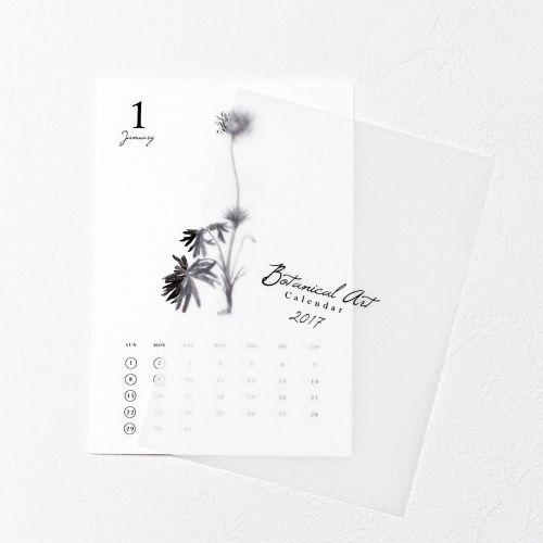 ボタニカル カレンダー 2017